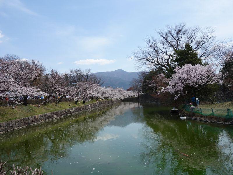 松本城の北側のお堀