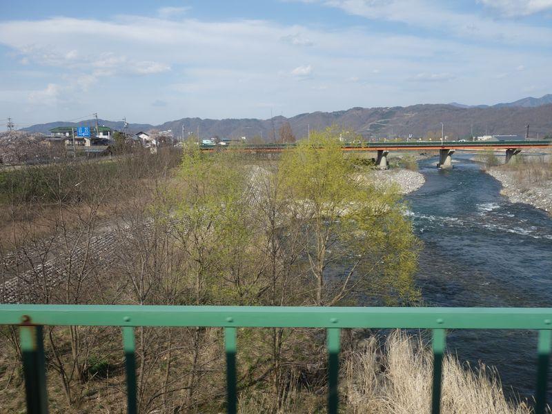 JR大糸線の梓橋